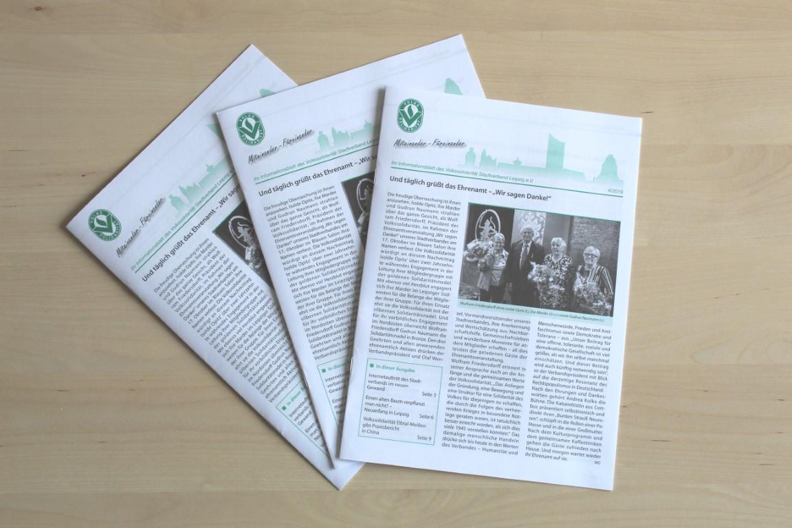 Die neue Ausgabe des Infoblatts der Volkssolidarität Leipzig ist da.