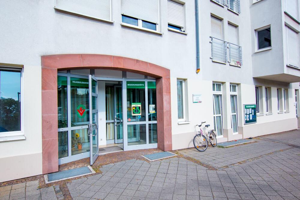 Seniorenbüro Süd in Leipzig - Eingang Prinz-Eugen-Straße 1